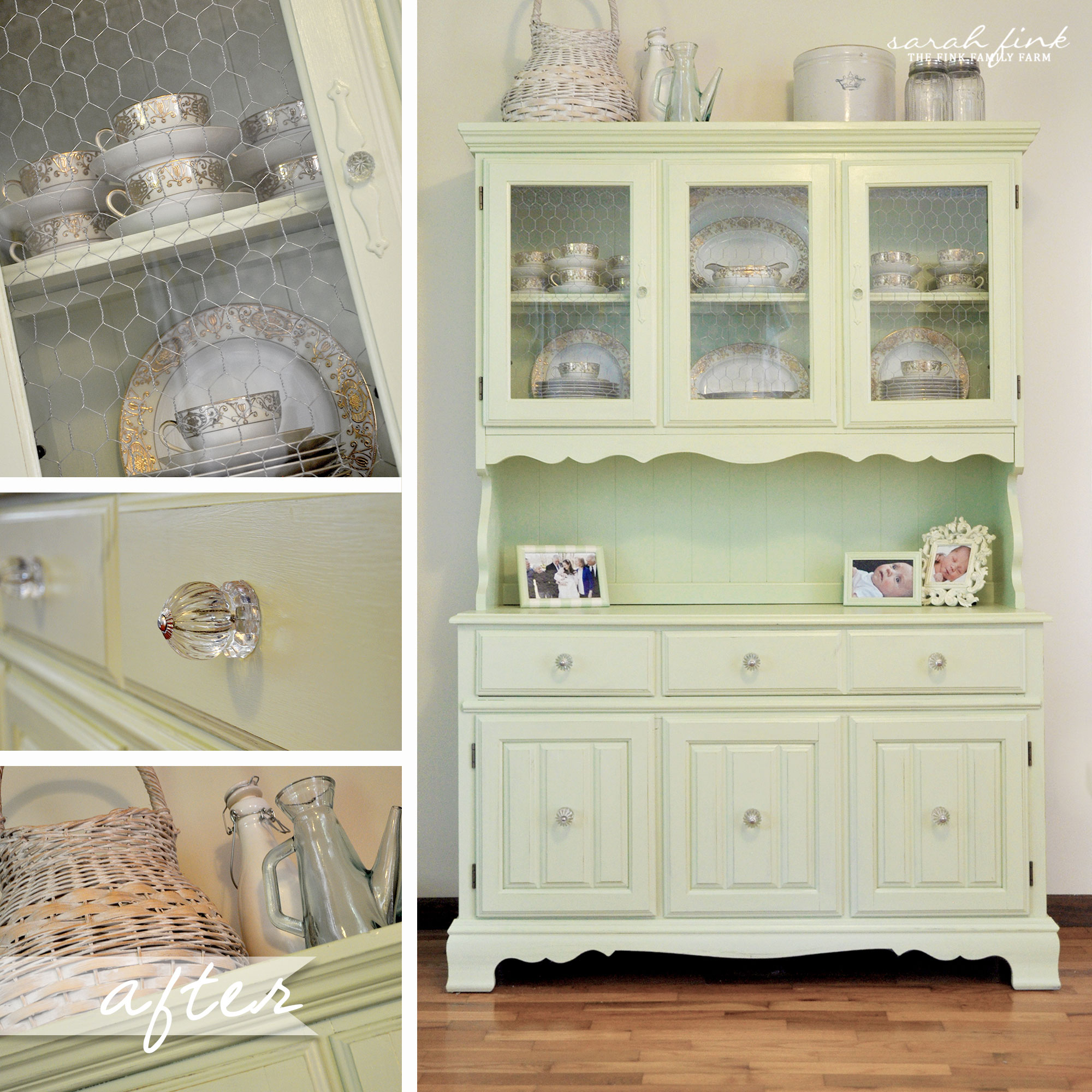 Creating A Bold Statement Piece Outdated China Cabinet Painted Turned Into Command Center