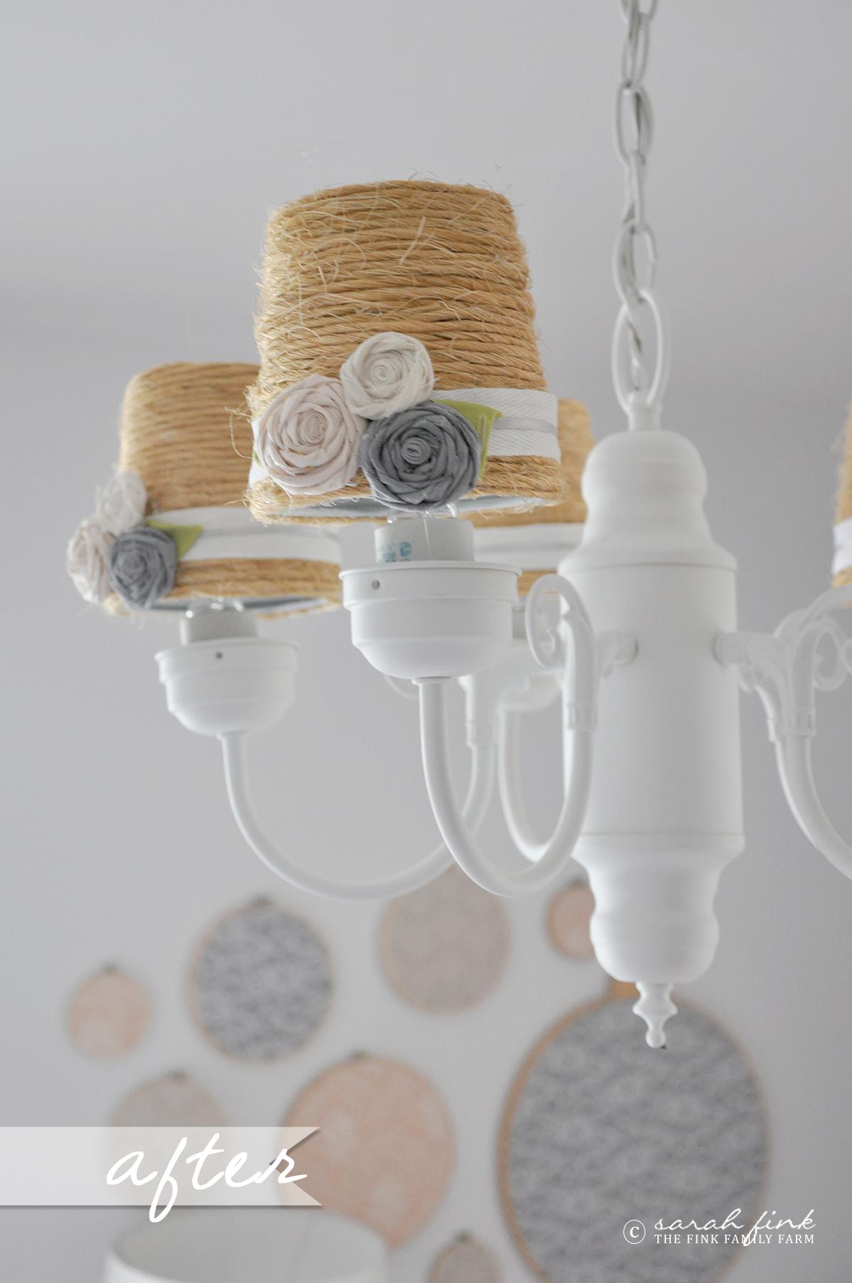 DIY Before & After Brass Chandelier Makeover Fink Family Farm