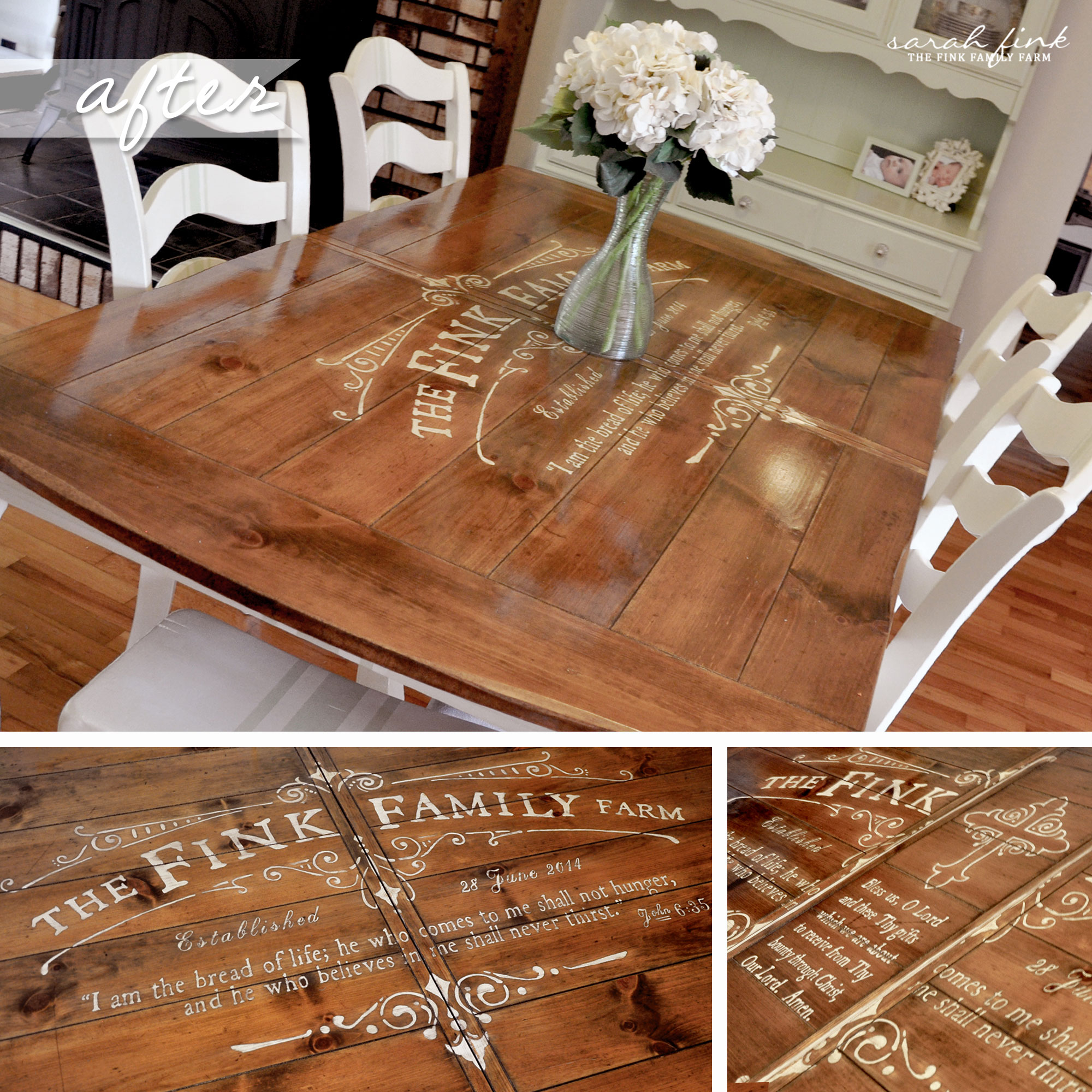 Kitchen Finks: Gathering For Dinner Around A Custom-Stenciled Dining Room