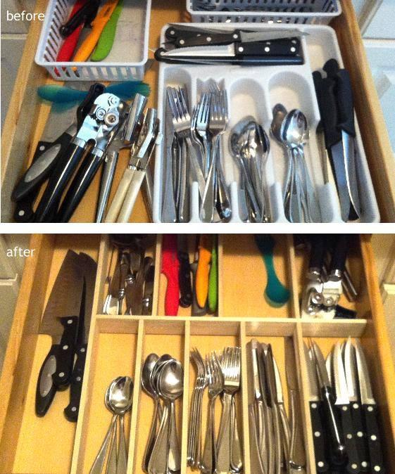 Kitchen Finks: DIY Custom Kitchen Drawer Organizers